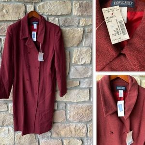 LANDS END WOOL LONG COAT